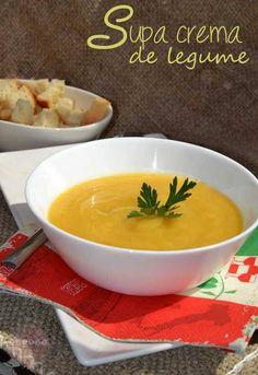 Supa crema de legume - RETETE DUKAN Seitan, Recipes From Heaven, Thai Red Curry, Supe, Bacon, Favorite Recipes, Ethnic Recipes, Food Heaven, Dukan Diet