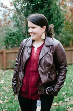 f51dcb4c7d9 Kut from the Kloth Cinda Faux Leather Moto Jacket I ve been searching for a leather  jacket that actually fits my body time (bigger in the chest area).