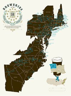 Breweries Of The United States Travel Maps Brewery And Design - Rap of the map of the us
