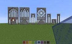 MInecraft stained glass Source by Minecraft Castle Walls, Minecraft Castle Blueprints, Minecraft Building Guide, Minecraft City, Minecraft Plans, Amazing Minecraft, Cool Minecraft Houses, Minecraft Buildings, Minecraft Temple