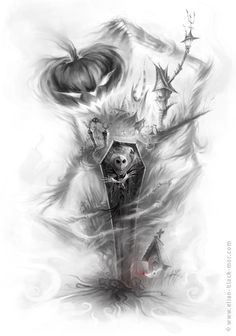 Tribute to 'The Nightmare Before Christmas' by Élian Blackmor, via Behance