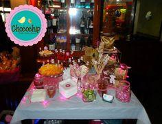 mesa de fuente de chocolate osito