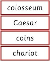 Roman Topic Words - Detailed item view - Primary Resources: Primary Teacher Toolbox