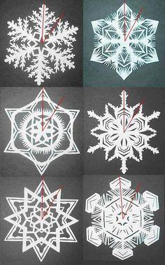 Wie man 6-Spitz Papier Schneeflocken Stellen