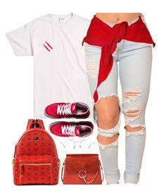 """""""Back Home"""" by oh-aurora ❤ liked on Polyvore featuring Chloé, Linda Farrow, MCM and Vans"""