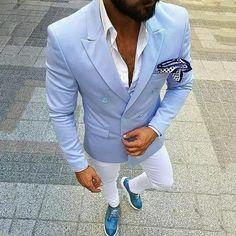 d045b60d3 Homens Ternos de Linho Azul feito sob encomenda Para O Casamento Smoking Do  Noivo Noivo Desgaste