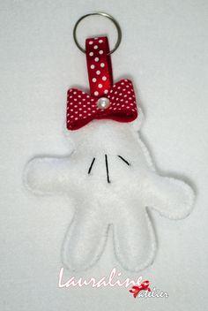 Lembrancinha Mão da Minnie #lembrancinha #lembrancinhadefeltro #feltro #felt #minnie  #lauralineatelier