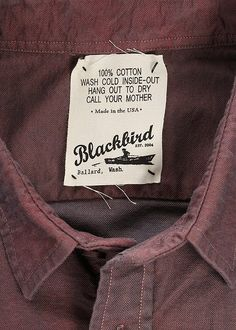 Blackbird Clothing Tag - Call your mother LOL