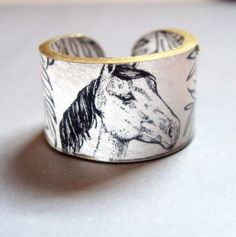 Equestrienne Horse Ring  Choose Your Size by dillondesigns on Etsy, $5.99