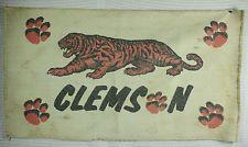 "Vintage Clemson Tigers 24"" x 42""  Floor Rug Carpet Door Entry Mat Man Cave Decor"