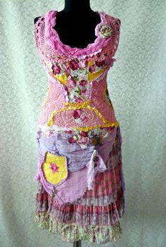 Bohemian Mori Girl  Gypsy Dress Gypsy Queen by irinacarmen on Etsy, $198.00