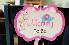 Modern Baby Elephant Baby Shower — Celebrations at Home--Chair Tag