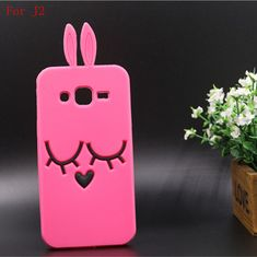 Phone Case For Samsung Galaxy J1 ACE J2 J200 Case Cartoon Rose Red Shy Rabbit Back Cover Soft Silicon Back Phone Case