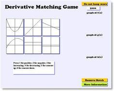 Derivative game for Calculus Math Lesson Plans, Math Lessons, Math Tips, Math Tutor, Teaching Math, Math Education, Fun Math, Math Activities, Ap Calculus