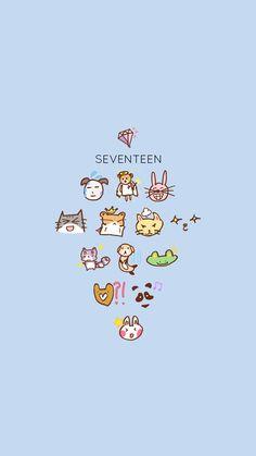 Seventeen Lyrics, Joshua Seventeen, Carat Seventeen, Seventeen Memes, Seventeen Album, Mingyu Seventeen, Lines Wallpaper, Locked Wallpaper, Kawaii Wallpaper