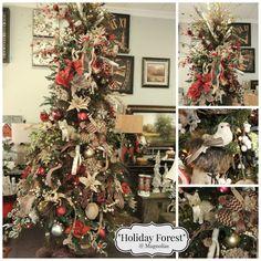 Holiday Forest  - 2014 Designer Christmas Tree by Magnolias Norfolk, NE
