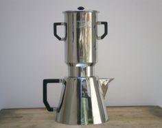 vecchia caffettiera di Selecta 1950 metallo / / laterali cucina francese / / Deco / / / pentole/stoviglie / / home decor
