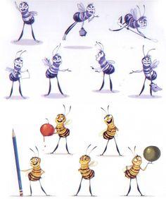 """Desenvolvendo """"Barry e Adam"""", de Bee Movie   THECAB - The Concept Art Blog"""