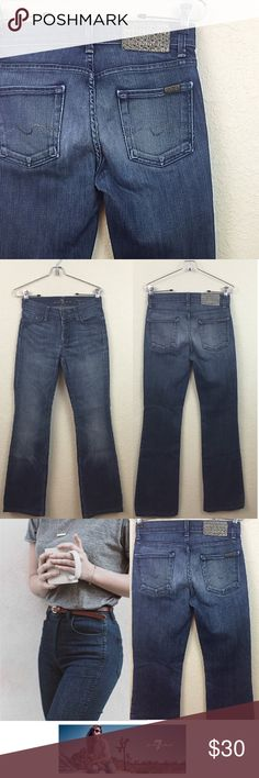 """7 for all mankind jeans price firm 7 for all mankind high waisted boot cut jeans no damages size 26 inseam 29"""" $198 7 for all Mankind Jeans Boot Cut"""