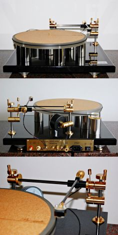 Turntable ATM-1401 older version with air bearing tonearm.