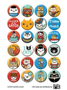 Badge Bomb - Cat Box by gemma correll, via Flickr