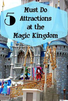 Must Do Attractions at the Magic Kingdom at Walt Disney World #DisneySide