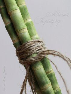 Бамбук из фоамирана. Больше цветов на сайте ЦВЕТЫ-ФОАМИРАН.РФ