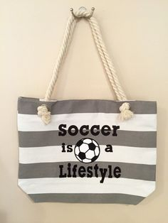 A personal favorite from my Etsy shop https://www.etsy.com/listing/244442613/soccer-is-a-lifestyle-canavas-tote-with
