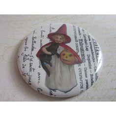 Miroir de sac, miroir de poche, accessoire, sac à main, beauté, mode,Halloween 21   http://romantic-garden.fr/