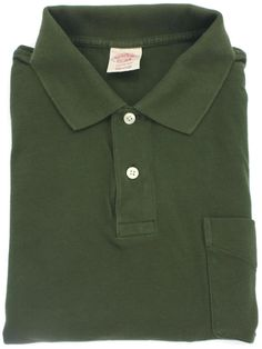 Brooks Brothers Vintage Polo Shirt Mens Size Large Short Sleeve Green Knit Sz L…