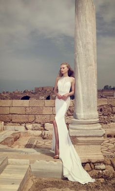 Halter beauty ~ Wedding Dresses by Simijan Bozaglo 2013 | bellethemagazine.com