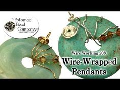 ▶ How to Wire Wrap Pendants & Donuts (Wire Working 208) - YouTube free tutorial from The Potomac Bead Company www.potomacbeads.com Buy Online: www.thebeadco.com