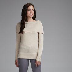 Off Shoulder Wool and Cashmere Knit Jumper