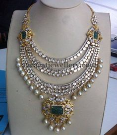 Jewellery Designs: Triple Layer Diamond Bridal Set