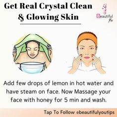 Good Skin Tips, Clear Skin Tips, How To Clear Skin, Clear Skin Face, Face Skin Care, Beauty Tips For Glowing Skin, Beauty Skin, Face Beauty, Skin Care Routine Steps
