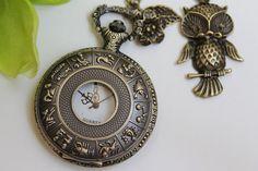 Steampunk Zodiac Constellation Pocket Watch by emilymoon2003, $17.99