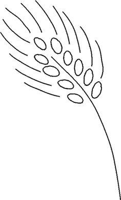 Free Stencils Collection: Flower Stencils: Free Flower Stencil: Wheat Stalk