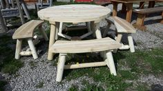 Cedar Furniture, Picnic Table, Patio, Home Decor, Decoration Home, Room Decor, Home Interior Design, Picnic Tables, Home Decoration