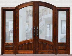Exterior Double Doors with Sidelights | Solid Hardwood Doors ...