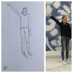 De manier van natekenen die ik heb gebruikt voor mijn tekeningen, vanaf foto's.