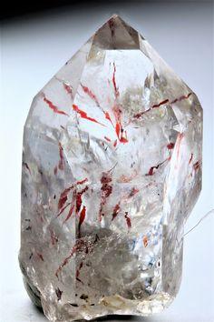 Hematite in quartz, brandberg, Namibia. Natural Curiosities, Curiosity, Minerals, Quartz, David, Gemstones, Photos, Pictures, Gems