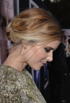 Pin for Later: 12 Times Kate Mara's Updo Was Way Cooler From the Back April 2014 . . . And in the back, there was a bevy of bobby pins holding her tucked-under chignon in place.