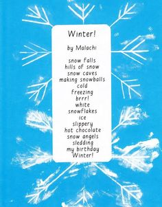 Winter Poem & Snowflake Print to go with Stopping by Woods on a Snowy Evening {FI♥AR} Snowy Trees, Winter Trees, Winter Fun, Winter Holiday, Holiday Ideas, Christmas Ideas, Christmas Crafts, Winter Activities, Writing Activities