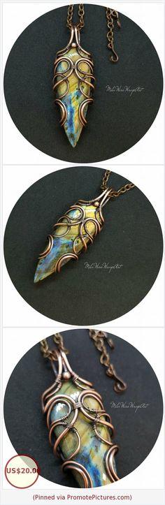 Unisex Big Labradorite Pendant Copper Wire wrapped Jewelry Rainbow Multicolor Labradorite Amulet Dagger Poniard Pendant Heady Boho style https://www.etsy.com/MilaWireWrapArt/listing/588738386/unisex-big-labradorite-pendant-copper?ref=shop_home_active_1 (Pinned using https://PromotePictures.com)