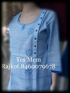 Shirt design Silk Kurti Designs, Salwar Neck Designs, Neck Designs For Suits, Kurta Neck Design, Kurta Designs Women, Dress Neck Designs, Embroidery Suits Punjabi, Kurti Embroidery Design, Pakistani Fashion Party Wear