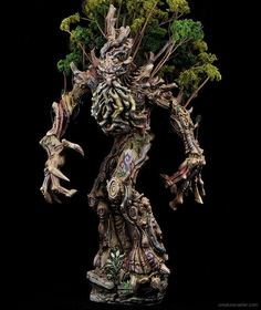 Boreal Treewalker is the most ancient of creatures. It is rumored that he is as old as the first tree, born to guard and protect the forest. Warhammer Wood Elves, Warhammer Fantasy, Warhammer Aos, Fantasy Battle, Fantasy Races, Fantasy Art, Mini Paintings, Cool Paintings, Tabletop