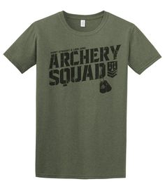 A distressed military feel partnered with this softstyle feel makes this Archery Squad t-shirt an instant classic. Fabric laundered, 4.3 oz., 60/40 combed ringspun cotton/polyester, 32 singles Set-in