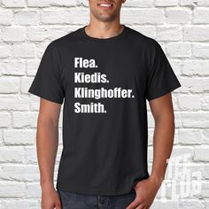 Red Hot Chili Peppers T-shirt Flea Kiedis Klinghoffer by TeeClub