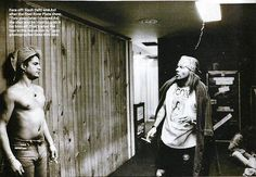 Slash & Axl Rose backstage, early '90s . This is supposed to be the last time Slash and Axl were photographed together.