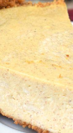 Eggnog Cheesecake With Gingersnap Crust | Recipe | Eggnog Cheesecake ...
